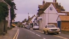 An old section of the A11 running through the Essex village of Newport in 1975.