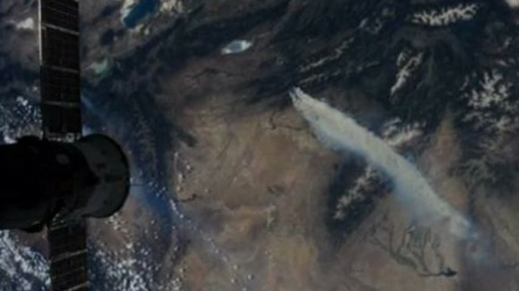 Image from space, 250 miles up