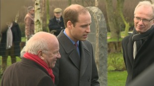 The Duke of Cambridge spoke during a dedication ceremony for the monument.