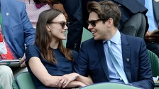 Knightley with husband James Righton of Mercury Prize-winning band Klaxons at Wimbledon earlier this year.