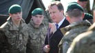 Prime Minister David Cameron meets soldiers at Royal Marine Stonehouse in Plymouth, home to the headquarters of 3 and 30 Commando Brigade.
