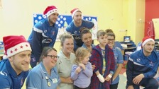 Children at the Cumberland Infirmary had a welcome surprise from CUFC players.