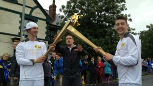 Dance duo Twist and Pulse carried the Torch in Burton-Upon-Trent describing the experience as 'one of the proudest moments of our lives'