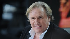 Gerard Depardieu appears on Canal + TV show Le Grand Journal during the 67th Cannes Film Festival in Cannes