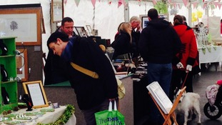 Shoppers at Penrith's Gifted Market