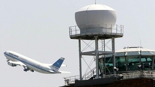 file photo of the Air Traffic Control Tower at Heathrow Airport