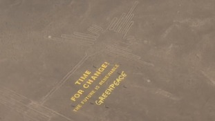 Greenpeace forced to apologise for Nazca lines PR stunt