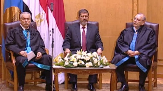 Mohammed Mursi has been sworn in as Egypt&#x27;s President 