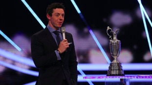 Golfer Rory McIlroy was voted as runner-up.
