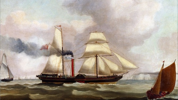 Ship used to carry mail in 1837