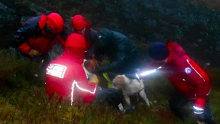rescuers in gorge