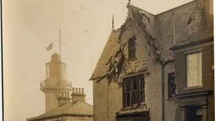 The Lighthouse Cafe was hit during the bombardment