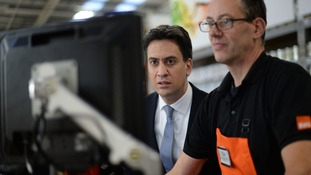 Ed Miliband during a visit to B&Q in Great Yarmouth following his immigration speech today.