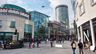 The Bullring shopping centre in Birmingham.