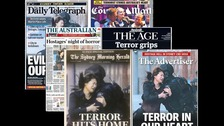 The newspapers' front pages
