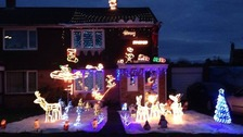 Christmas is snow joke at this house in Taunton