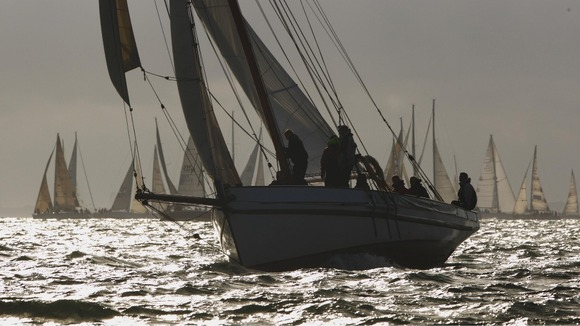 Yachts in the round the island race