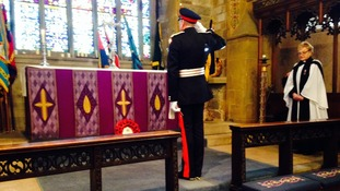 Wreath laid at St Mary's Church, Scarborough
