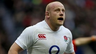Dan Cole in action for England