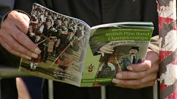 A record 141 pipe bands took part in today's British Pipe Band Championships.