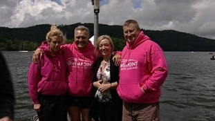 The launch of the 'Blue Lamp Trial' took place at Lake Windermere this afternoon