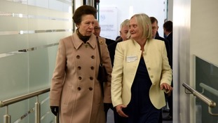 The Princess Royal at Liverpool School of Tropical Medicine.