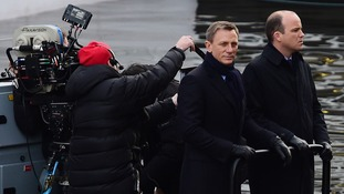 Daniel Craig spotted again filming scenes for new James Bond film 'Spectre' in London
