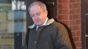 Former British Army officer Robert Jolleys leaves Swindon Crown Court.