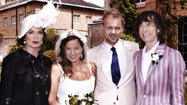 Jade Jagger with her husband Adrian Fillary, and her parents Bianca Jagger and Mick Jagger.