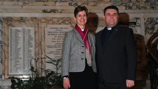 Rev Libby Lane with her husband George