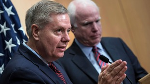 Senators Lindsay Graham and John McCain.