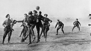 The Christmas Day truce saw soldiers from the opposing sides down weapons for the day
