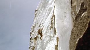 John Porter leading on steep ice