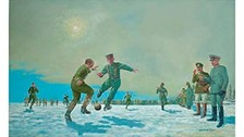 mage by David Thorp. Shows an impromtu football match during the 1914 Christmas truce.