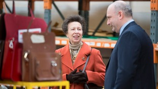 "The Princess Royal visited the business to promote the UKFT's ""Let's Make It Here"" campaign."