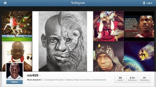 Mario Balotelli retweeted the offensive image on his Instagram account before removing it after criticism.