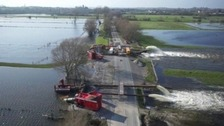 The Somerset Levels were badly flooded last winter.