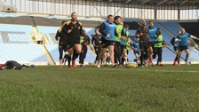 Wasps in training at the Ricoh Arena earlier this week