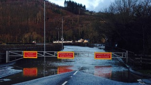Dyfi Bridge flooding
