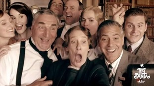 George Clooney joins stars of Downton Abbey to raise money for Text Santa