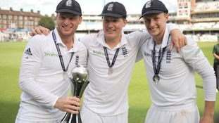 Gary Ballance (centre) and Joe Root (right) have both been included in England's World Cup squad