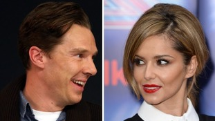 Benedict Cumberbatch and Cheryl Fernandez-Versini