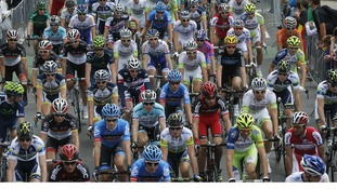 Stage One of the Tour de France saw the riders travel through Belgium