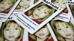 Business card sized leaflets showing missing girl Madeleine McCann, which were handed out to fans during the Espanyol v Sevilla Uefa Cup final at Hampden Park in Glasgow in 2007.