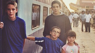 Paul, Rob and their two younger siblings before the tsunami.