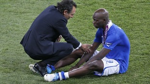Italy manager Cesare Prandelli with striker Mario Balotelli.