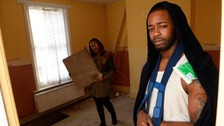 Jerome Jenoure was trapped under the floorboards for two hours