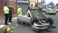 The crash happened outside Tesco Express in Handsworth