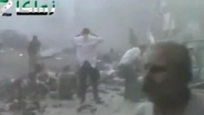 An explosion hit a funeral in Damascus