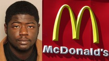 Demetri Johnson, 21, allegedly pulled a gun in McDonald's when he found he was missing a McDouble cheeseburger